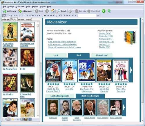 Capture d'écran Movienizer