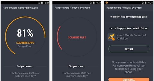 Capture d'écran avast! Ransomware Removal Android