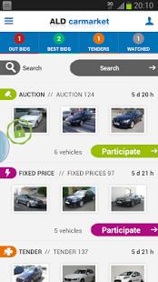Capture d'écran ALD carmarket