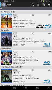 Capture d'écran DVD Profiler