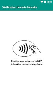 Capture d'écran Testeur carte de crédit NFC