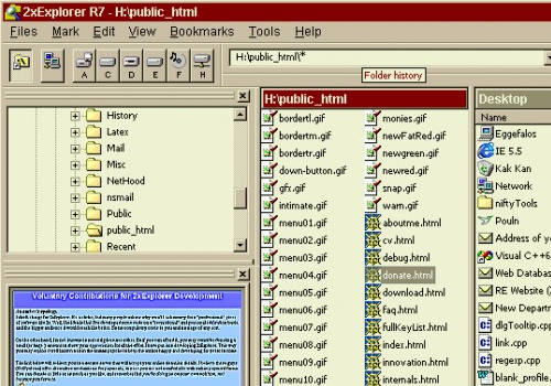 Capture d'écran Xplorer 2