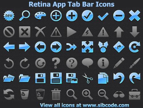 Capture d'écran Retina App Tab Bar Icons