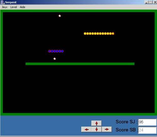 Capture d'écran Snake