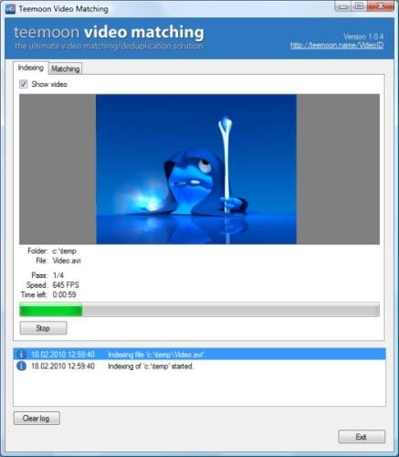 Capture d'écran Teemoon Video Matching