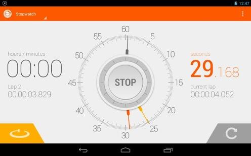 Capture d'écran Chronomètre Minuteur