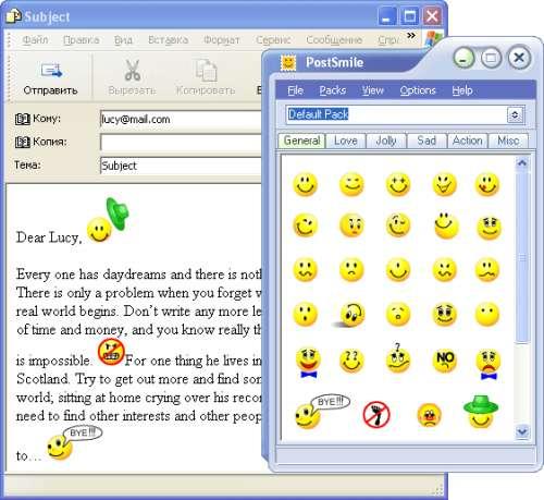 Capture d'écran PostSmile