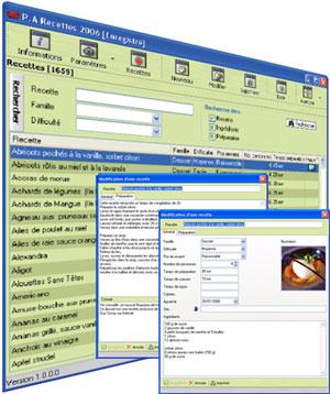Capture d'écran P.A Recettes 2006