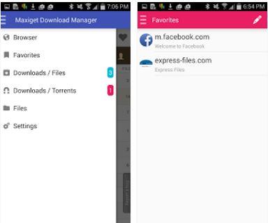 Capture d'écran Fast Download Manager Android