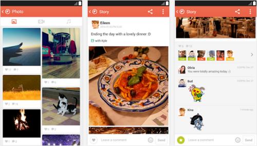 Capture d'écran KakaoStory Android