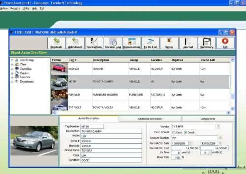 Capture d'écran Fixed Asset Pro16