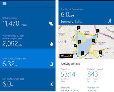Capture d'écran Microsoft Health Android