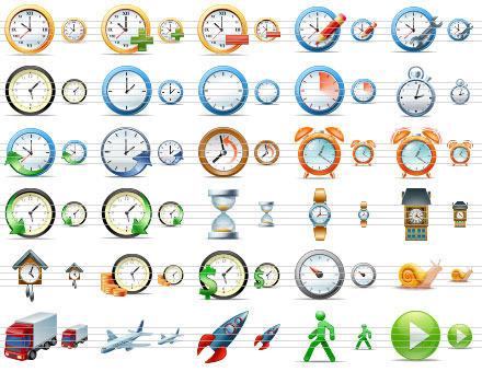 Capture d'écran Large Time Icons