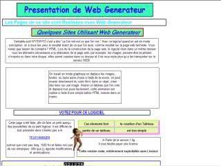 Capture d'écran Web Generateur