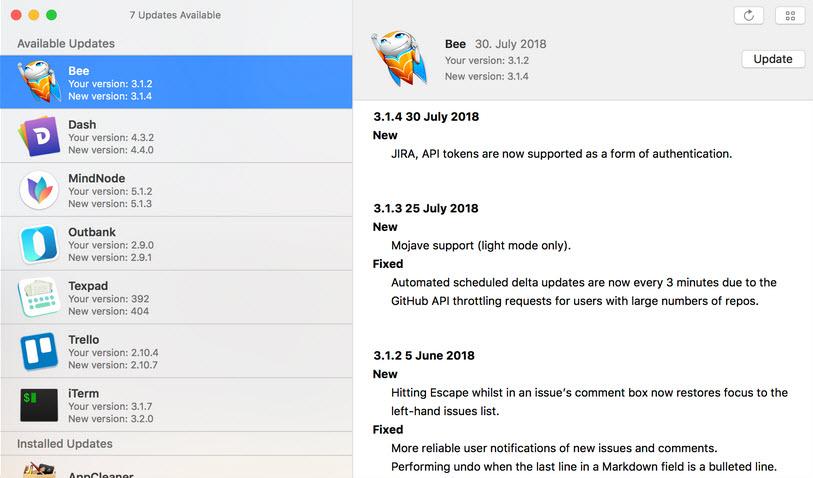 Capture d'écran Latest Mac