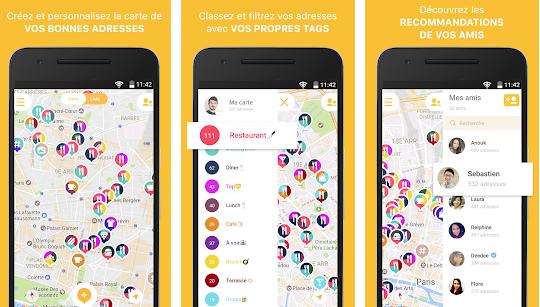 Capture d'écran Mapstr Android