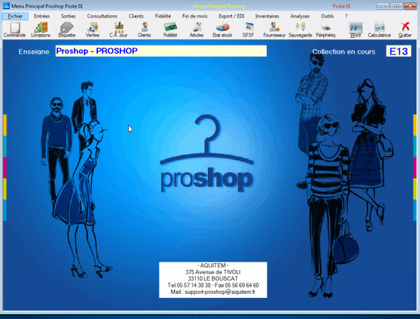 Capture d'écran ProShop
