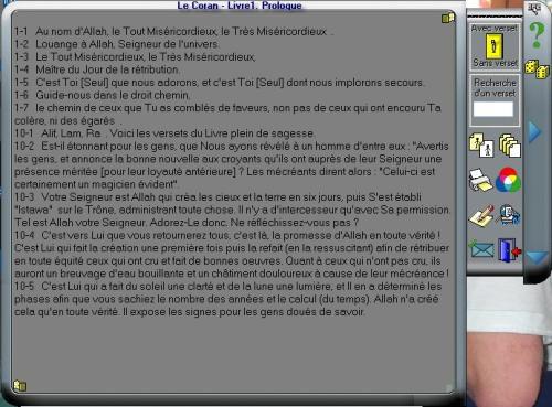 Capture d'écran Le Coran