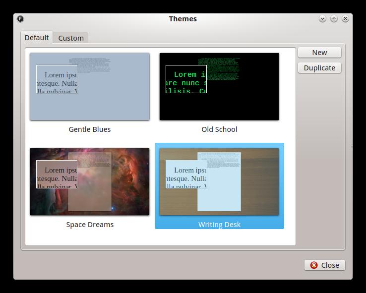 Capture d'écran FocusWriter