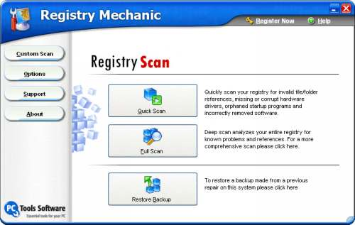 Capture d'écran Registry Mechanic