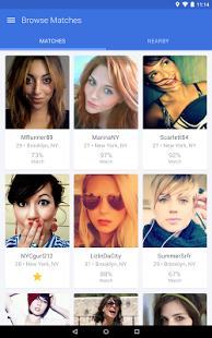 Capture d'écran OkCupid Android