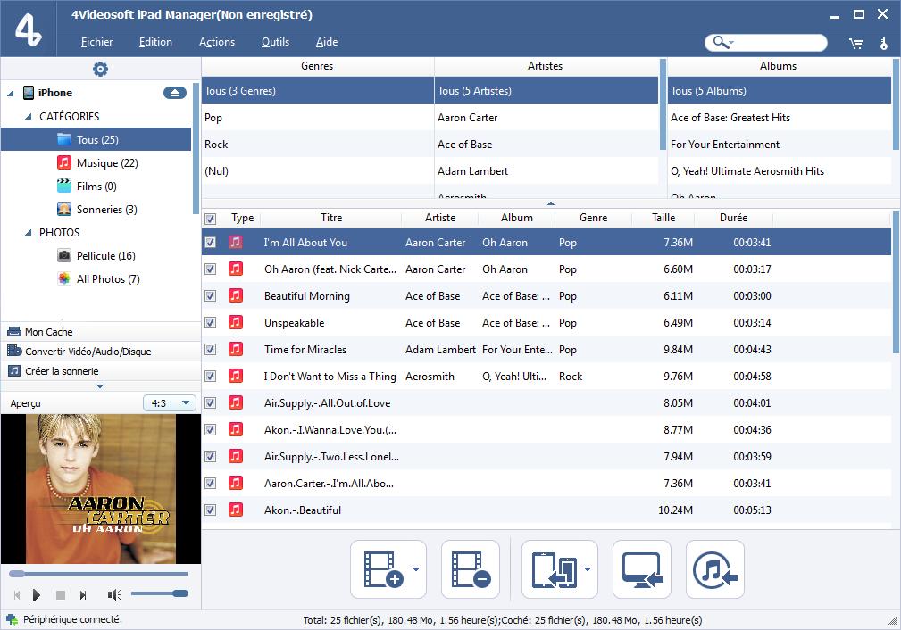Capture d'écran 4Videosoft iPad Manager