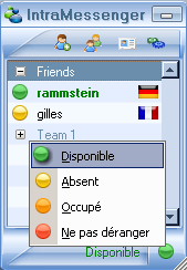Capture d'écran IntraMessenger