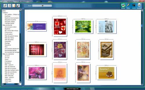 Capture d'écran Cartes de Voeux & Invitations