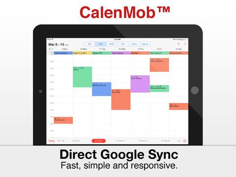 Capture d'écran CalenMob iOS