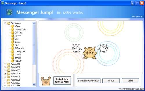 Capture d'écran Messenger Jump! for MSN Winks