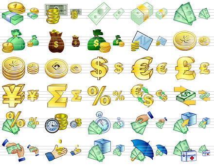 Capture d'écran Large Money Icons