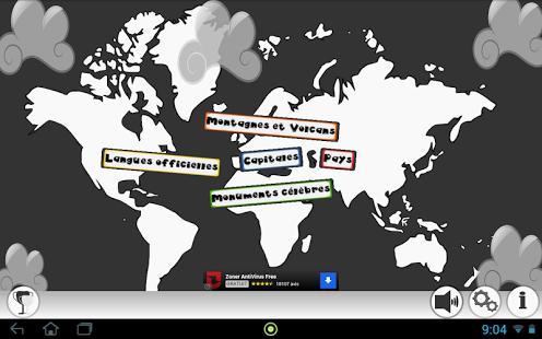 Capture d'écran Géographie Capitale Pays Quiz