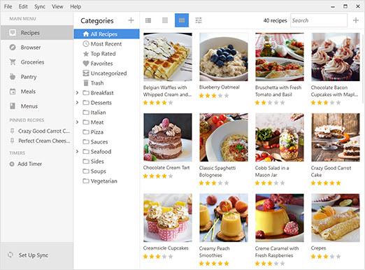Capture d'écran Paprika Recipe Manager