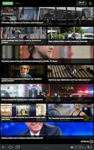 Capture d'écran Metro News Canada