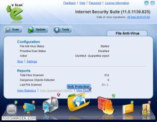 Capture d'écran eScan Internet Security Suite