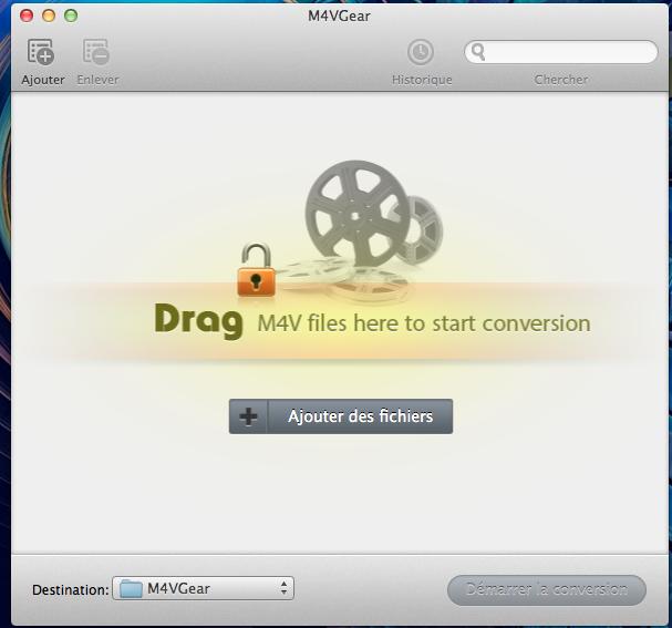 Capture d'écran M4VGear DRM Media Converter pour Mac
