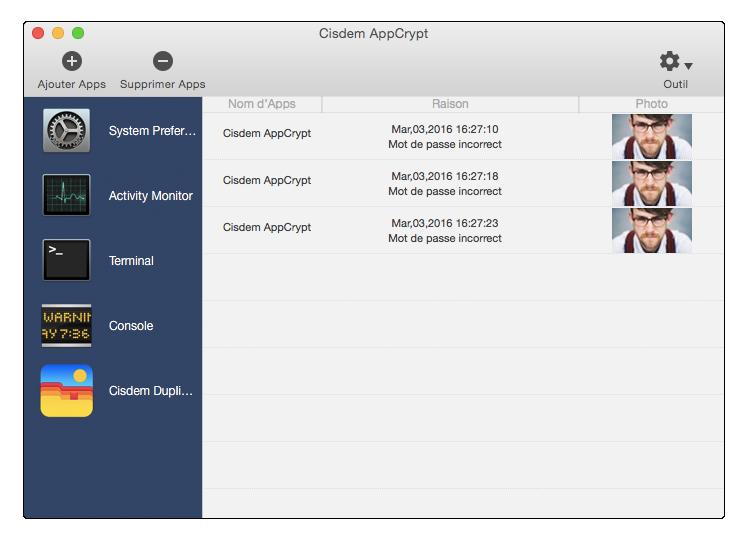 Capture d'écran Cisdem AppCrypt pour Mac
