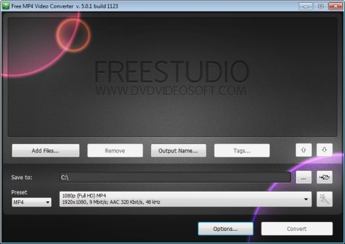 Capture d'écran Free MP4 Video Converter