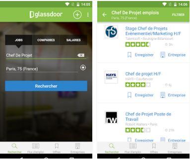 Capture d'écran Recherche d'emploi Android