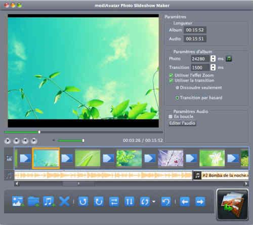 Capture d'écran mediAvatar Créateur Diaporama Vidéo Mac