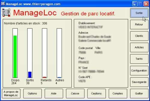 Capture d'écran ManageLoc