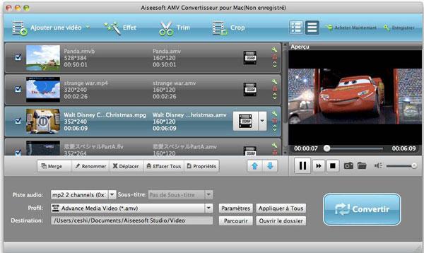 Capture d'écran Aiseesoft iPhone Convertisseur Suite