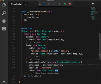 Capture d'écran Flutter Mac