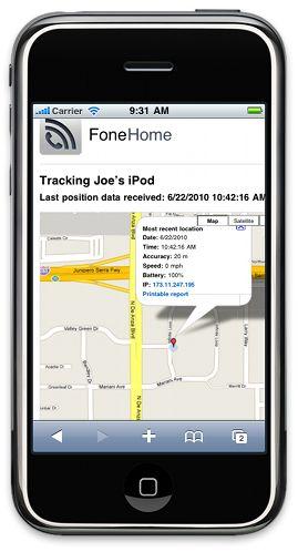 Capture d'écran FoneHome pour Android