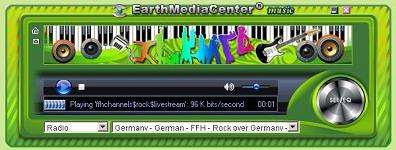Capture d'écran EarthMediaCenter online music radio