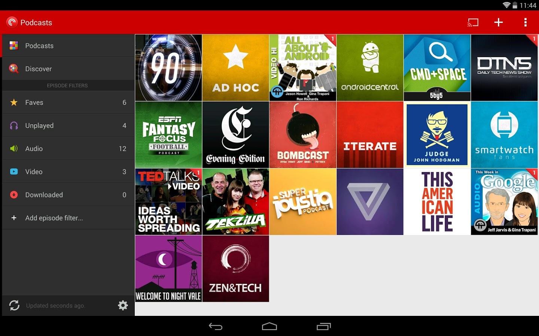 Capture d'écran Pocket Casts Android