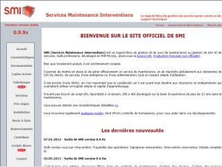 Capture d'écran Services Maintenance Interventions