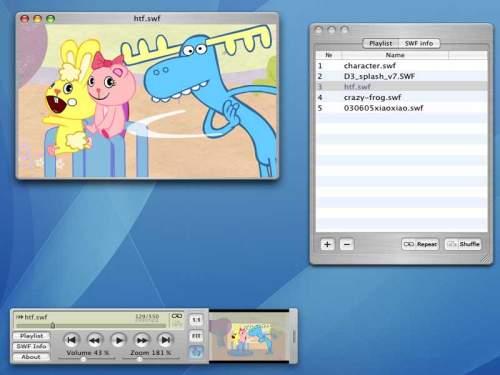 Capture d'écran SWF Movie Player for Mac