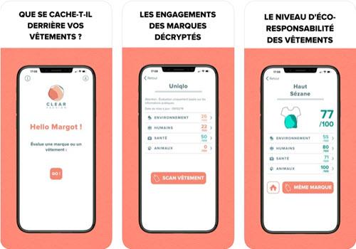 Capture d'écran Clear Fashion iOS