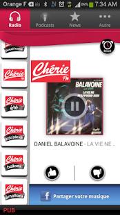 Capture d'écran Chérie FM